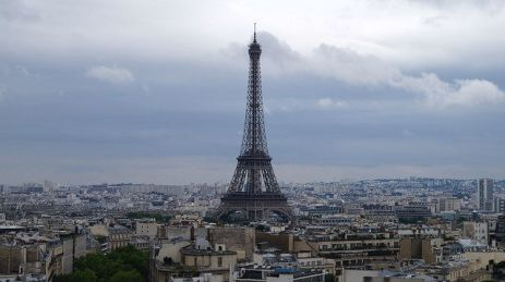 Paris France - View of Eiffel Tower from Arc de Triomphe