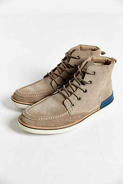 Stylish Mens Boots for Traveling 2015 - Lacoste Zinder Moc Toe Ankle Boot