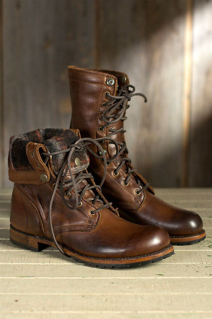 Stylish Mens Boots for Traveling - 2015 - Walk-Over Ian Fold-Over Leather Jump Boots