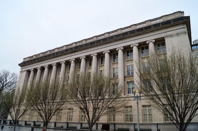 Highlights of Washington DC - Side of US Treasury