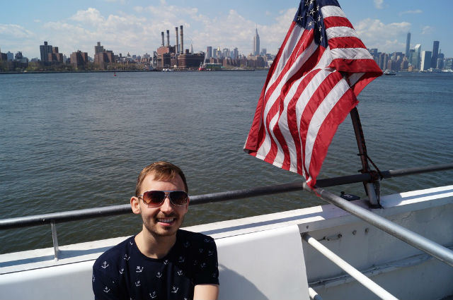 My Weekend in New York City - Taking the ferry to Manhattan