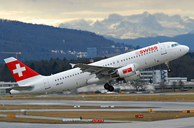 Steps for a Travel Lifestyle - Swiss air taking off