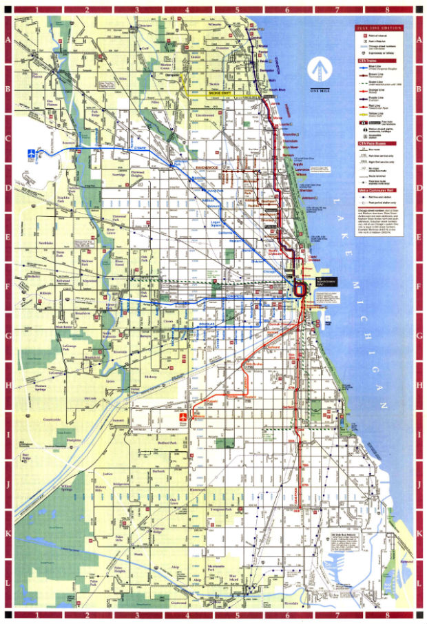 Weekend in Chicago - L Map