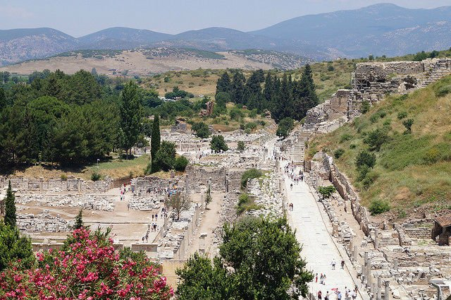 My Day at Ephesus and Kusadasi Turkey - Overlooking Ephesus from the VIllas