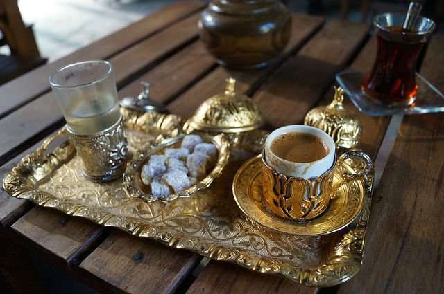 My Day at Ephesus and Kusadasi Turkey - Roman's Turkish coffee and tea