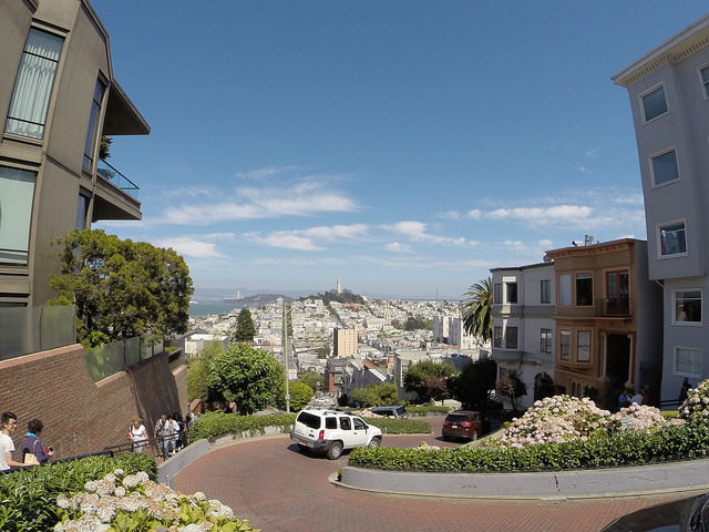 My First Time in San Francisco - Looking Down Lombard Street