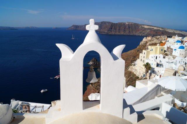 Stunning Santorini Greece - Church bell in Oia Greece