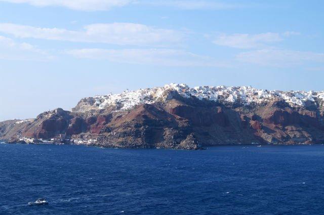 Stunning Santorini Greece - Oia from the sea