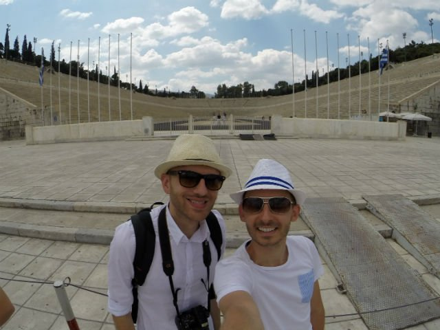 Sunday in Athens Greece - First Modern Olympic Stadium