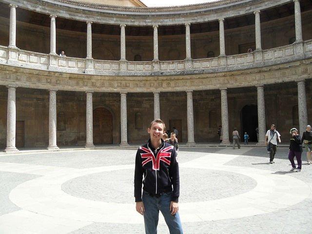 Spain - Shawn in Granada Spain in part of the Alhambra