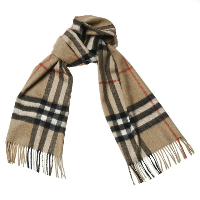 Manly Scarves for Travel - Cashmere Plaid Scarf Burberry
