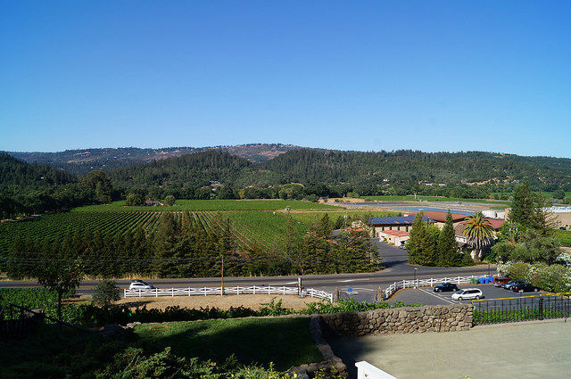 Napa Valley - The valley from St Clement Winery