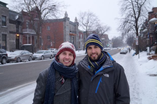 Montréal Québec - Sylvain and I in Montréal Québec