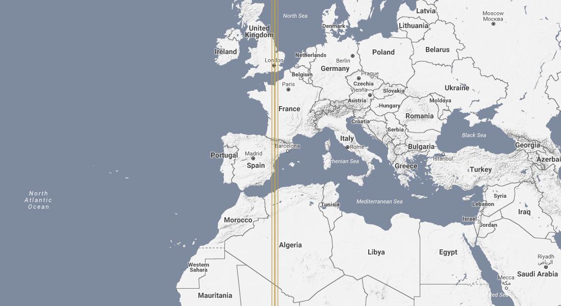 Prime Meridian Map