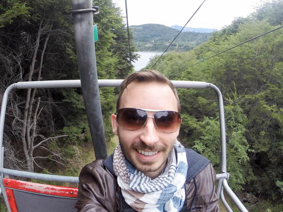 Going up Cerro Campanario