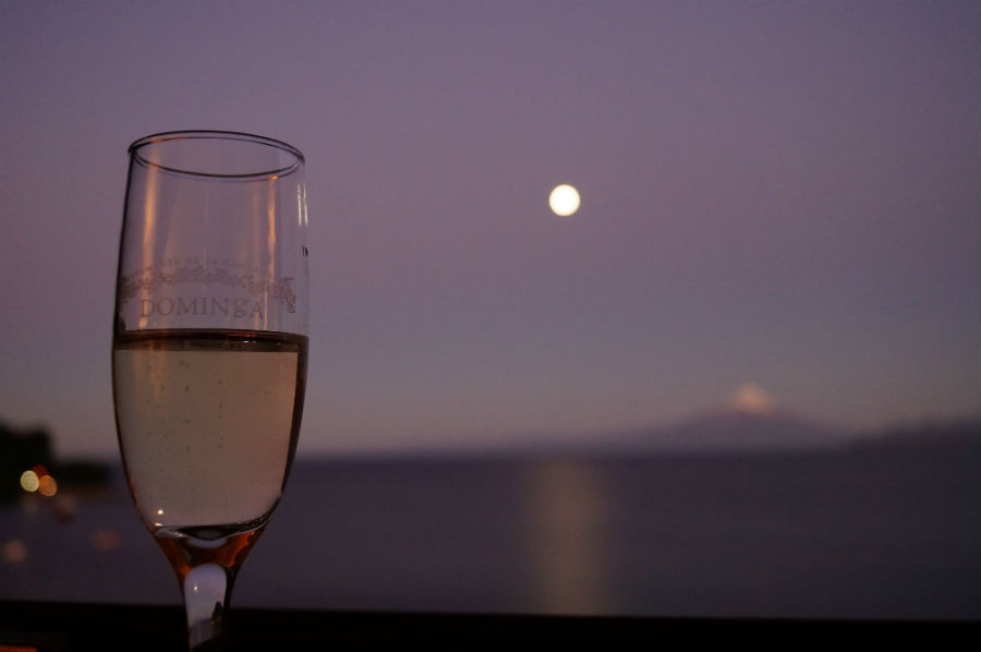 Moonlight on Lake Llanquihue