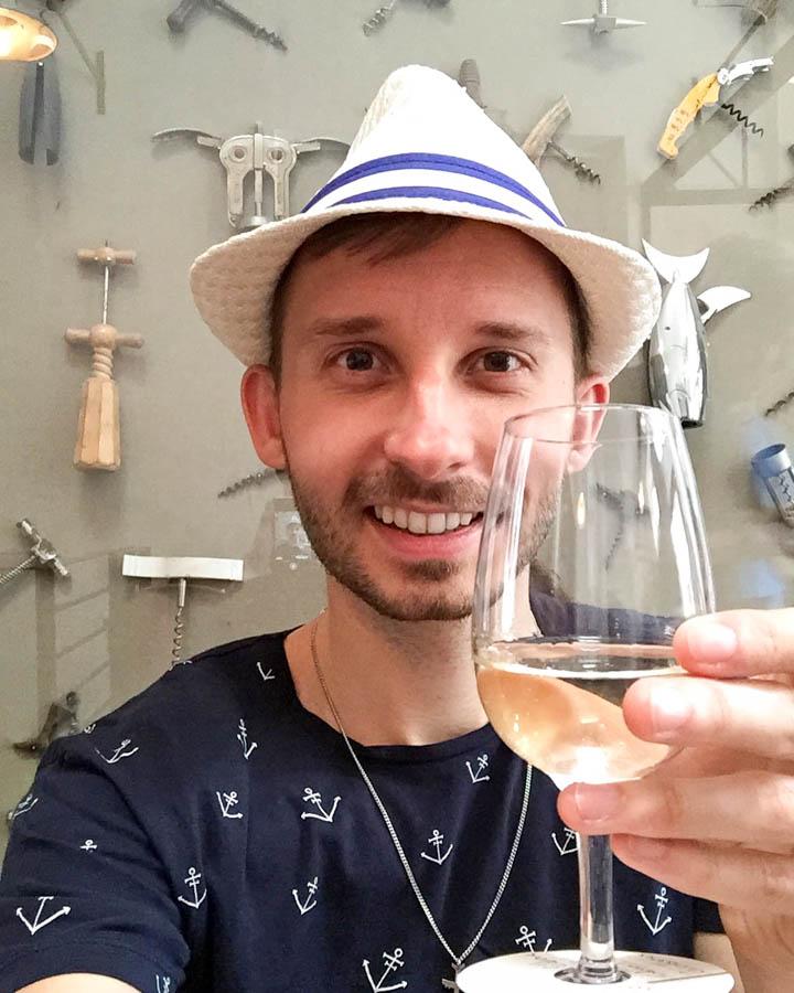 Enjoying some Chilean wine
