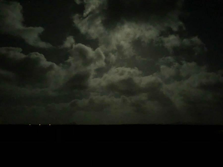 Iceland in moonlight