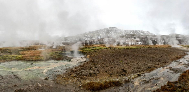 Panoramic shot at Geysir