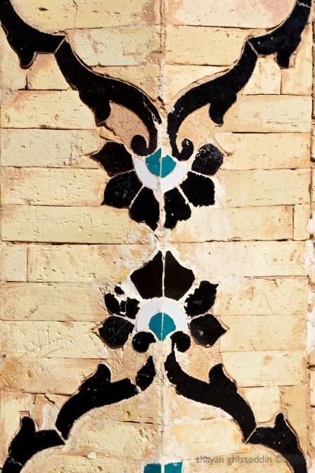 tiles, shazdeh garden, mahan, kerman