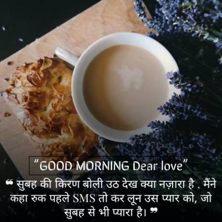 Romantic Good Morning Love Messages for Girlfriend in Hindi