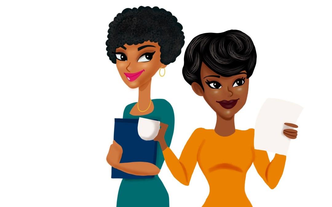 Business Women Avatar Logo