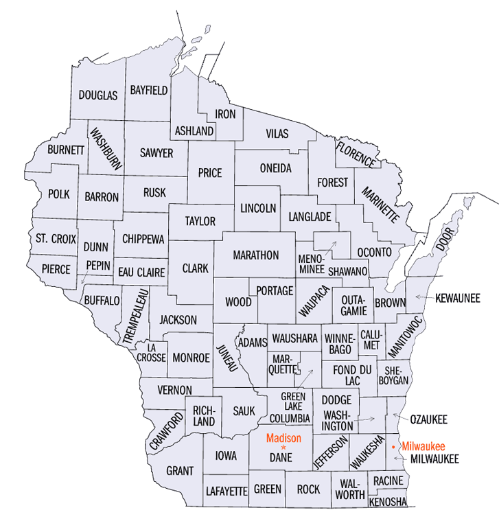 Wisconsin County Charts.