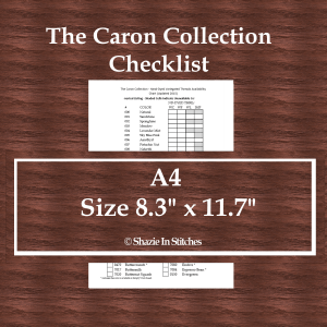 A4 Size – The Caron Collection Checklist