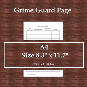 A4 Size – Grime Guard Page
