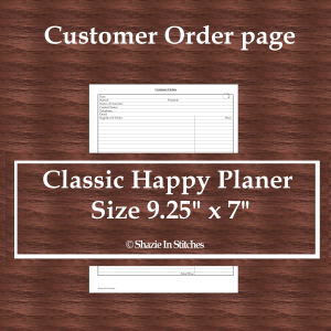 CHP – Customer Order Page