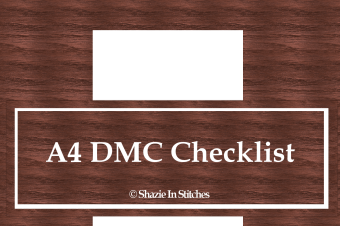 Cross Stitch Journal – Correction on the A4 DMC Checklist