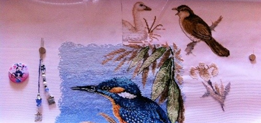 My Kingfisher Project after 45 hours stitching