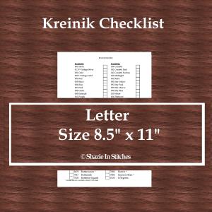 Letter Size – Kreinik Checklist