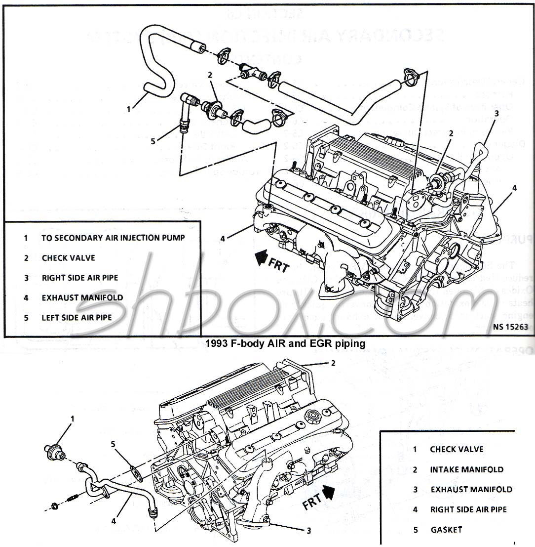 Chevy Camaro Factory Parts Diagrams Manual 93 02