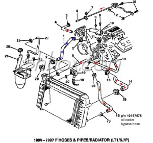 LT1 swap radiator hose questions (with diagram for future
