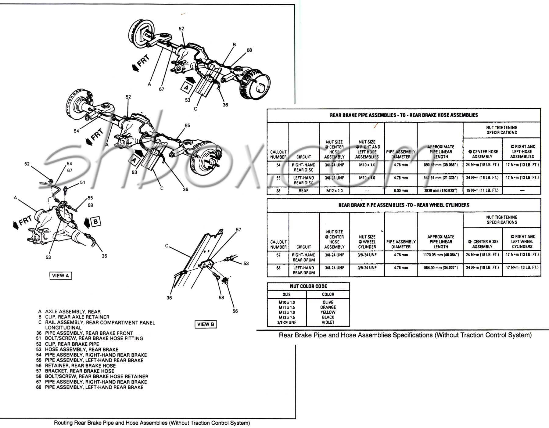 Camaro Brake Line Diagram Wiring Schematic Diagram