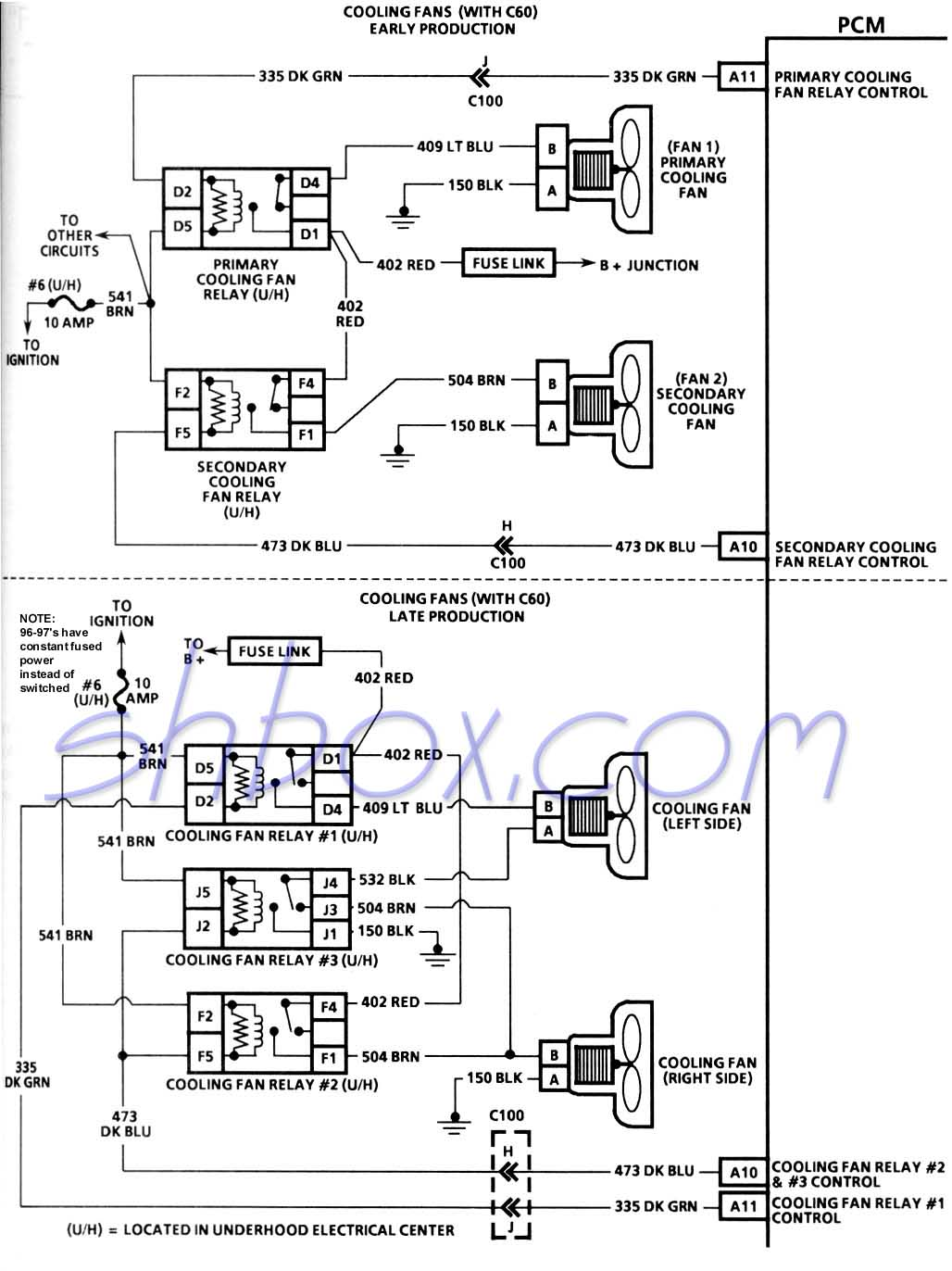 electric cooling fan relay wiring diagram