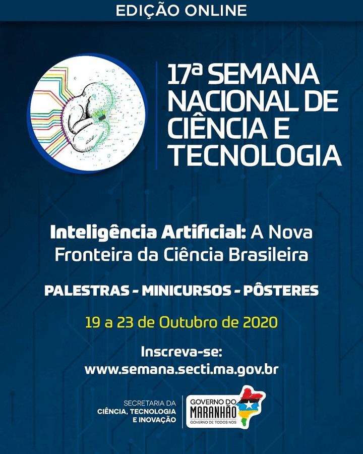 Semana Nacional de Ciência e Tecnologia no Maranhão será realizada totalmente online