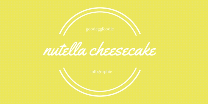 Nutella Cheesecake Infographic
