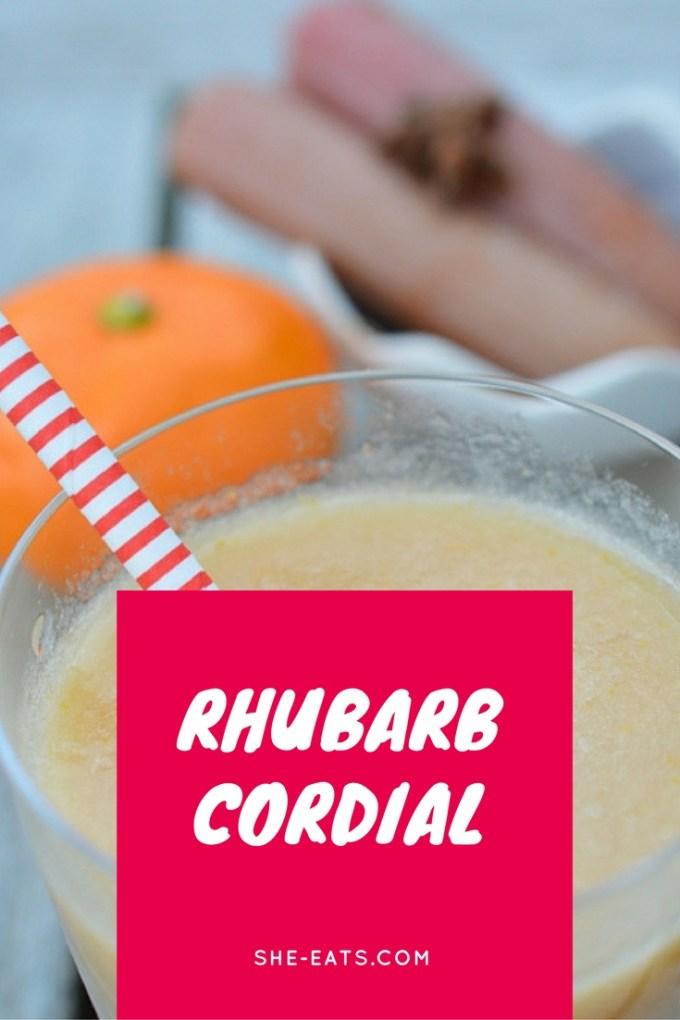 Rhubarb cordial / SHE-EATS