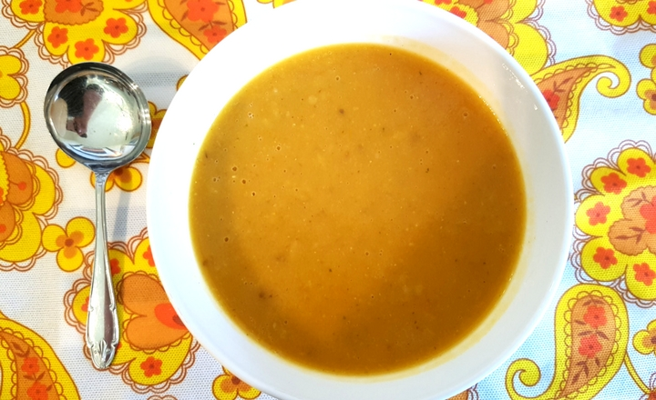 Butternut squash soup with tomato and sweetcorn // GoodEggFoodie