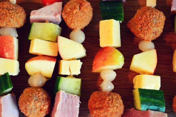 Ploughman's on a stick – the perfect picnic kebab