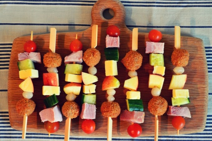 Ploughman's on a stick / picnic / she-eats