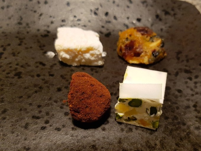Petit four on plate / Grafene, Manchester / SHE-EATS