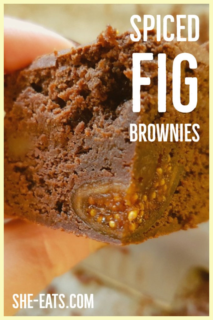 Brownie with text overlayed for pinterest