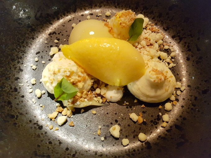 A dessert dish at Grafene Manchester
