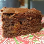 Close up of Spiced fig brownie / She-Eats