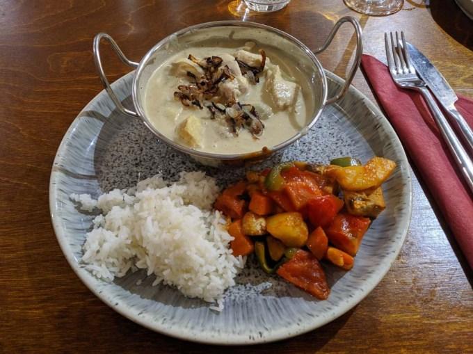 Thai meal on plate