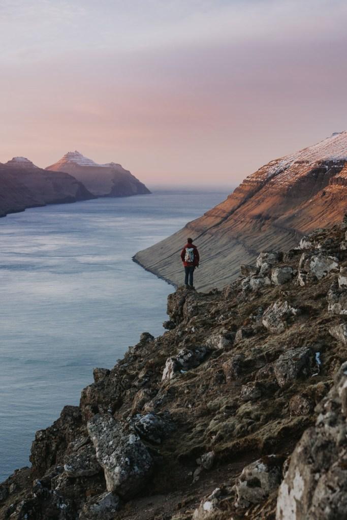 Faroe Islands Fjord Sunset