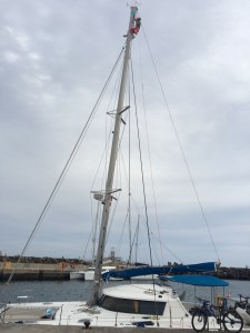 this time the mast steps need to be mounted in the top, again many bruises are caught